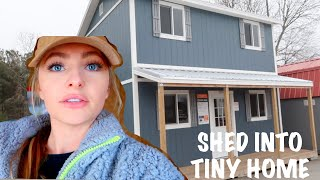 Convert a Shed into A Tiny Home For CHEAP!