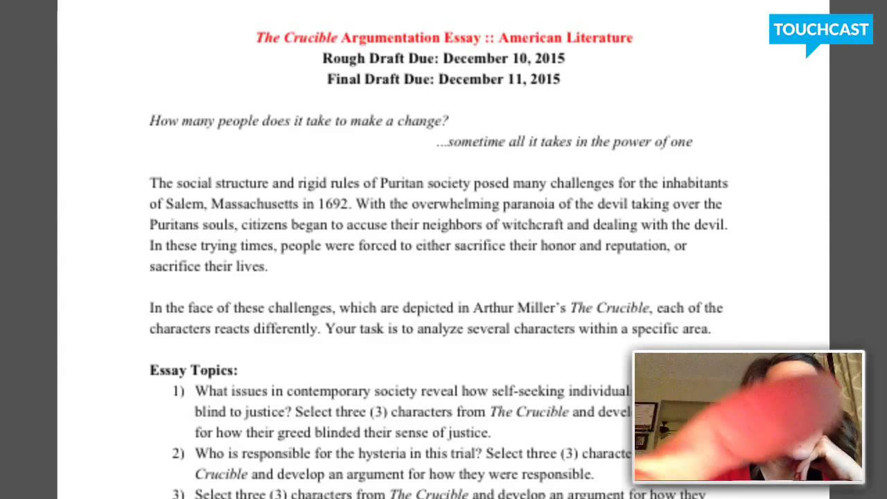the crucible belonging essay essay