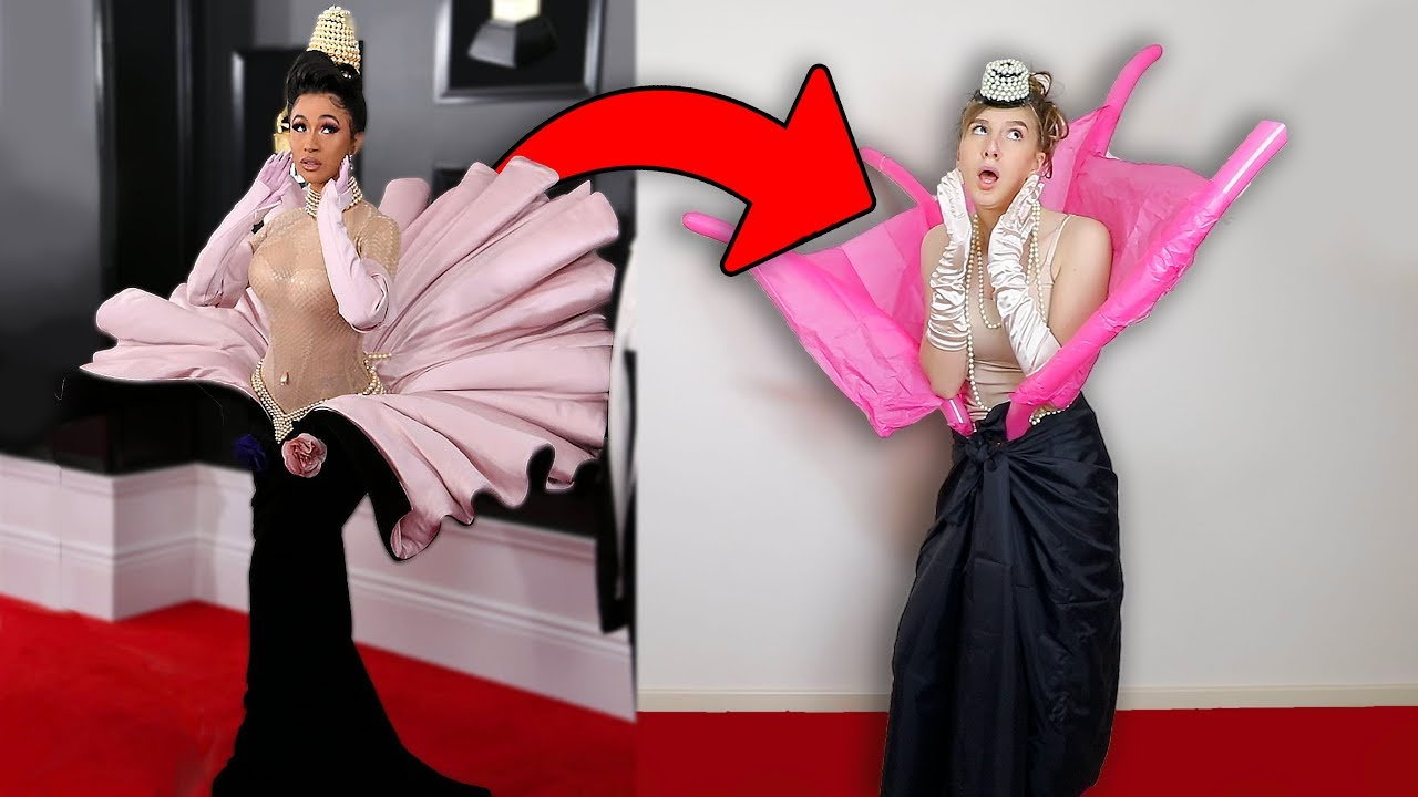 [VIDEO] - I TRIED RE-CREATING CELEBRITIES RED CARPET OUTFITS 2
