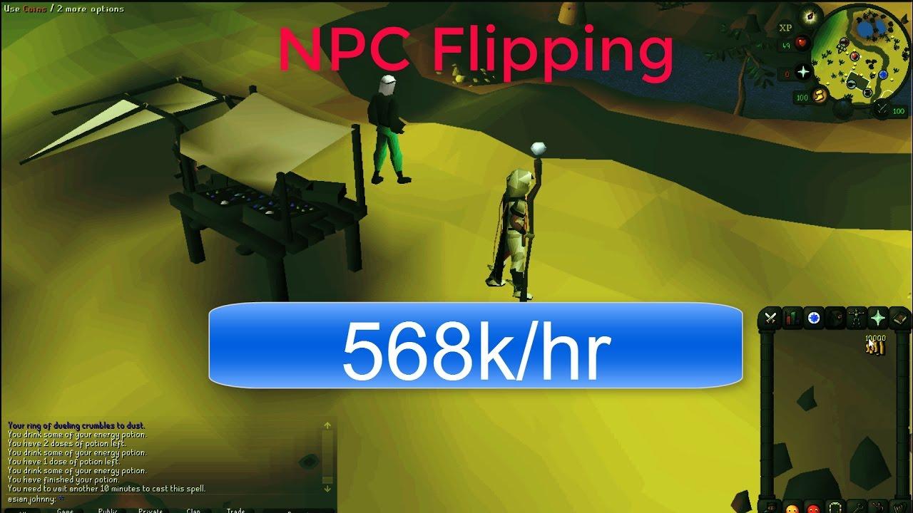 Fast money making method NPC flipping OSRS 2007 runescape