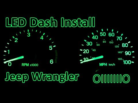 D.I.Y. - How To Install LED Dash Upgrade | Jeep Wrangler TJ