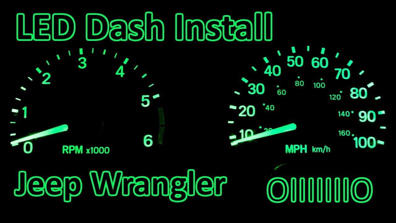 D I Y  - How to Install LED Dash Upgrade | Jeep Wrangler TJ