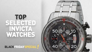 Top Black Friday Invicta Watches: Invicta Men's 17204 AVIATOR Stainless Steel Casual Watch