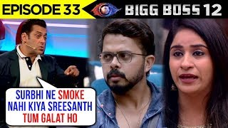 Salman Khan Gets ANGRY On Sreesanth & Supports Surbhi Rana | Weekend Ka Vaar | Bigg Boss 12 Update