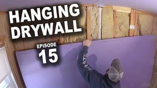 DIY Bathroom Remodel - Hanging Drywall and Prepping Shower Surround Framing - Episode 15