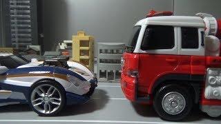 또봇v 캡틴 폴리스 레스큐R Tobot V Police Car Fire Truck Robot Toys