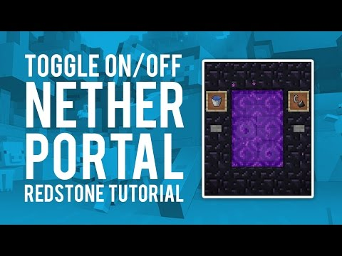 Redstone Tutorial - Toggle Nether Portal On/Off (Xbox One Xbox 360 PS3 PS4)