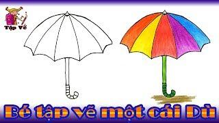 Bé tập vẽ cái Dù theo mẫu | draw the umbrella