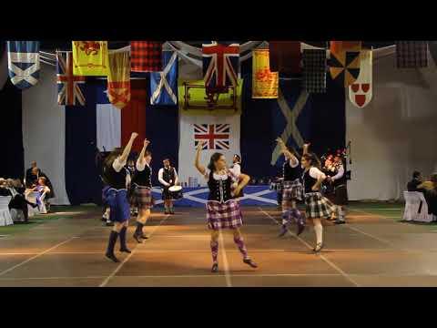 Highland Fling Choreography - Santiago Metropolitan Pipe Band, Caledonian Ball 2016