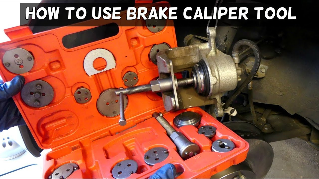 How To Use Brake Caliper Piston Compressor Tool Youtube