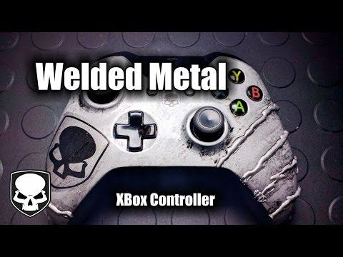 Metal XBox Controller - Grunge Metal Effect - HD