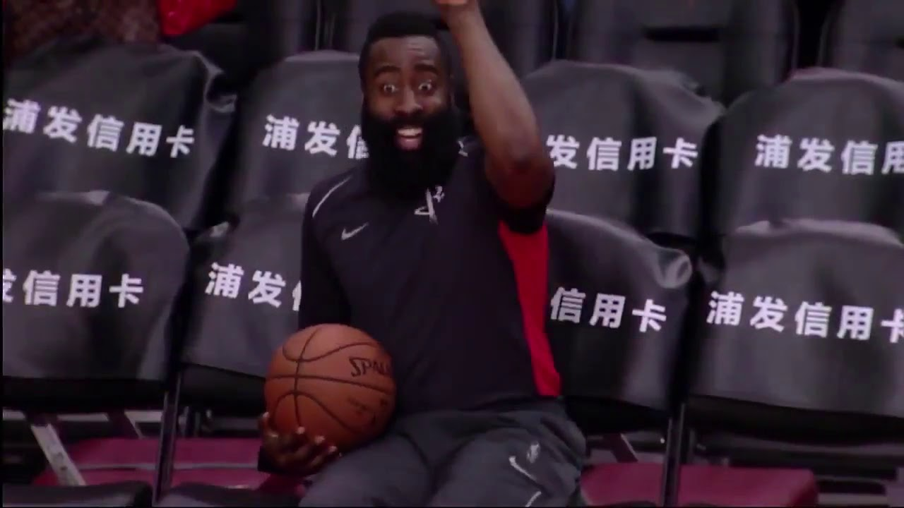 6965e9b5ed24 James Harden Gets Caught Dancing His Heart Out On The Big Screen ...