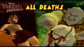Tarzan Untamed All Boss Fails | Deaths | Game Over (PS2, Gamecube)