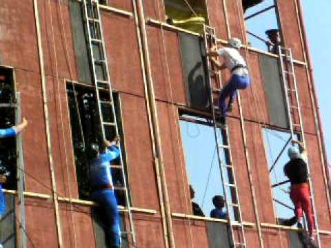 """Bulgaria Firemen's sporting event - """"Pompier ladder"""""""