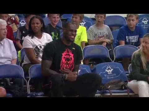 LeBron James visits Lexington (WKYT)
