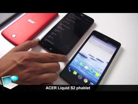 ACER Liquid S2, phablet Snapdragon 800 and Liquid S1 comparison
