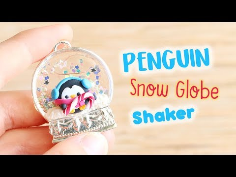 Penguin Snow Globe Shaker│Polymer Clay & UV Resin Tutorial