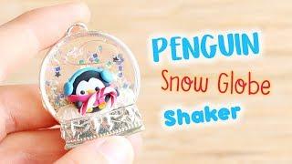 Penguin Snow Globe Shaker│Polymer Clay & UV Resin Tutorial