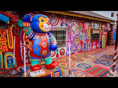 Rainbow Village. Taichung City, Taiwan