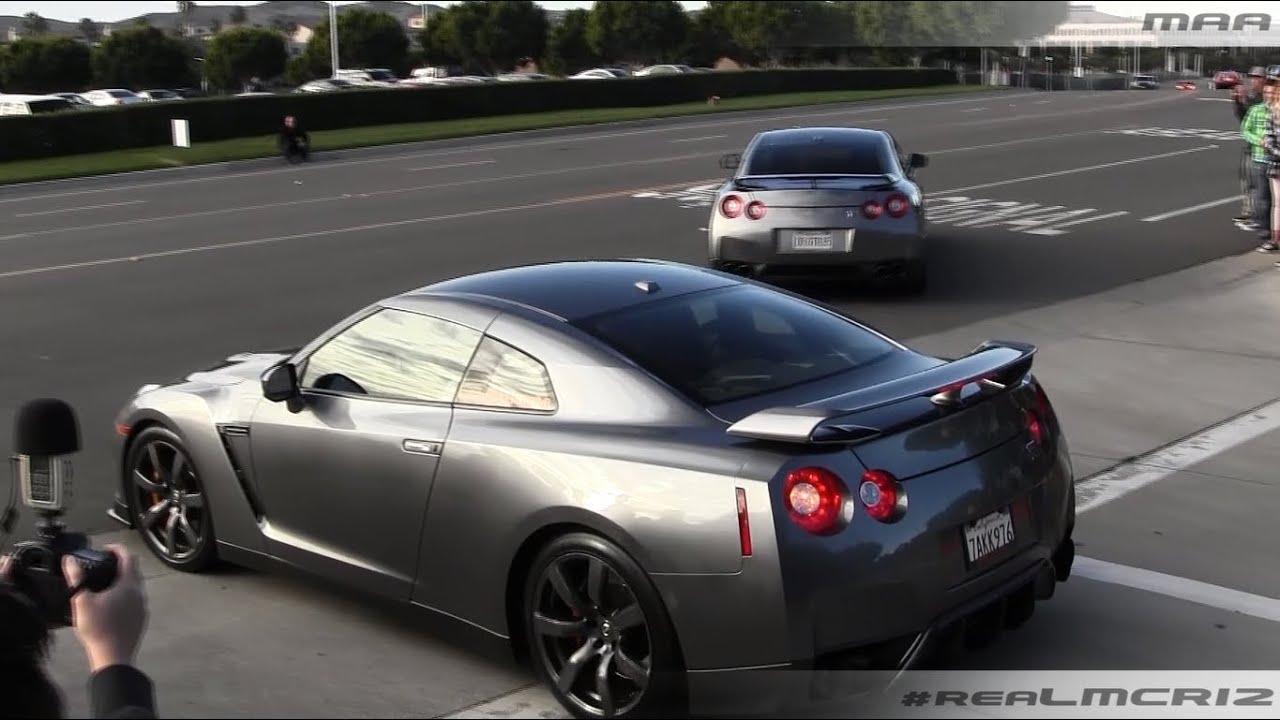 Nissan Gtrs Saleen Mustang Blacked Out Ferrari 360 Leaving Cc Irvine Youtube