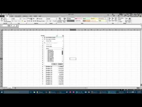 Create Random Groups using Excel