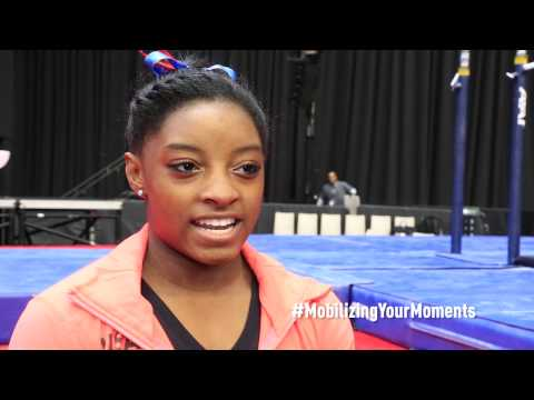 Simone Biles - Interview  2015 AT&T American Cup
