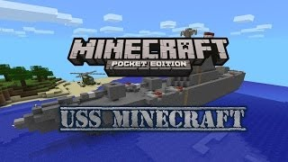 USS Minecraft! - Huge Battleship In Minecraft Pocket Edition
