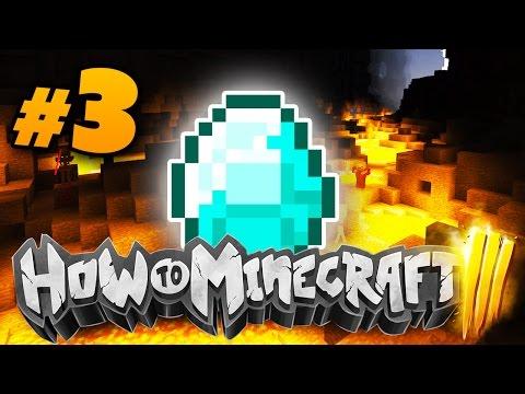 "Minecraft HOW TO MINECRAFT 3 ""INSANE DIAMOND MINING!!"" Episode 3 w/ Woofless"