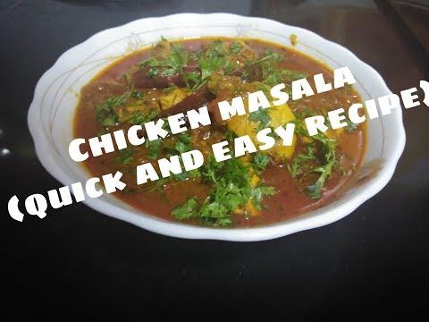 CHICKEN MASALA  EASY AND QUICK RECIPE KAVITA PATIL