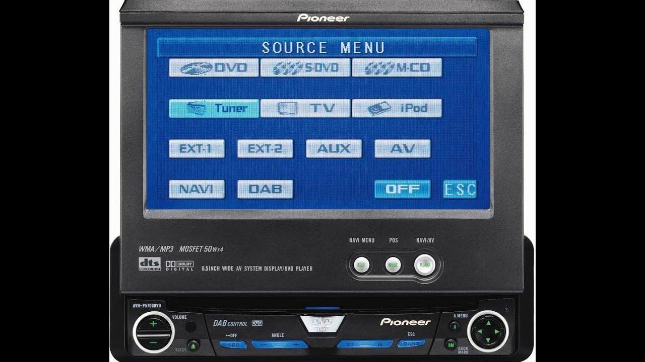 Pioneer Tela Retrátil Avh P 5700 Dvd - YouTube