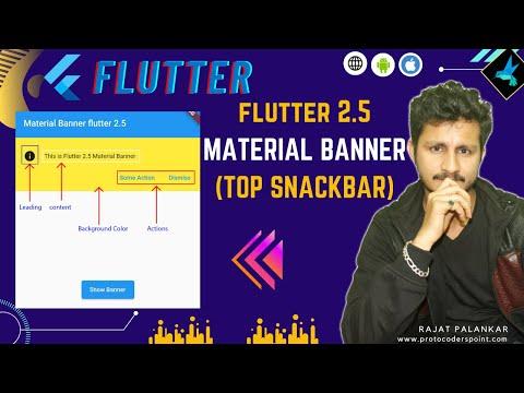 Flutter Material Banner Widget - Scaffold Messenger -  Flutter 2.5.0