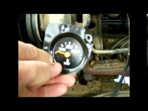 1987 Chevrolet pickup Temp Gage Stuck in high or low temp - YouTube