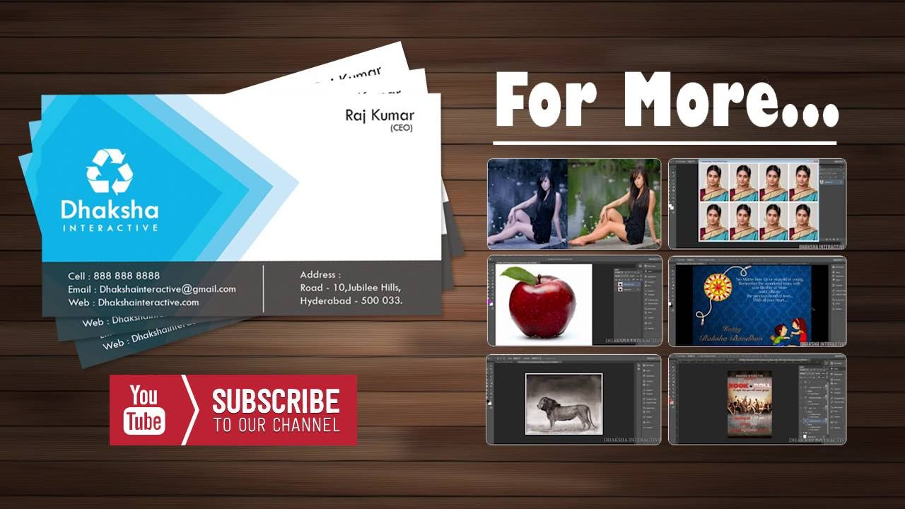 How to create Visiting card in photoshop || Business card ...
