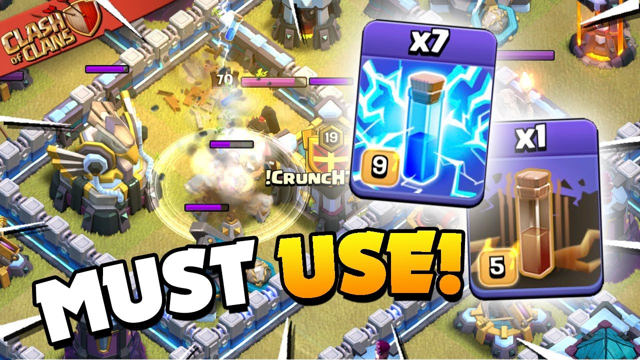 Best Post Update Tip! How to use the New Lightning Spell (Clash of Clans)
