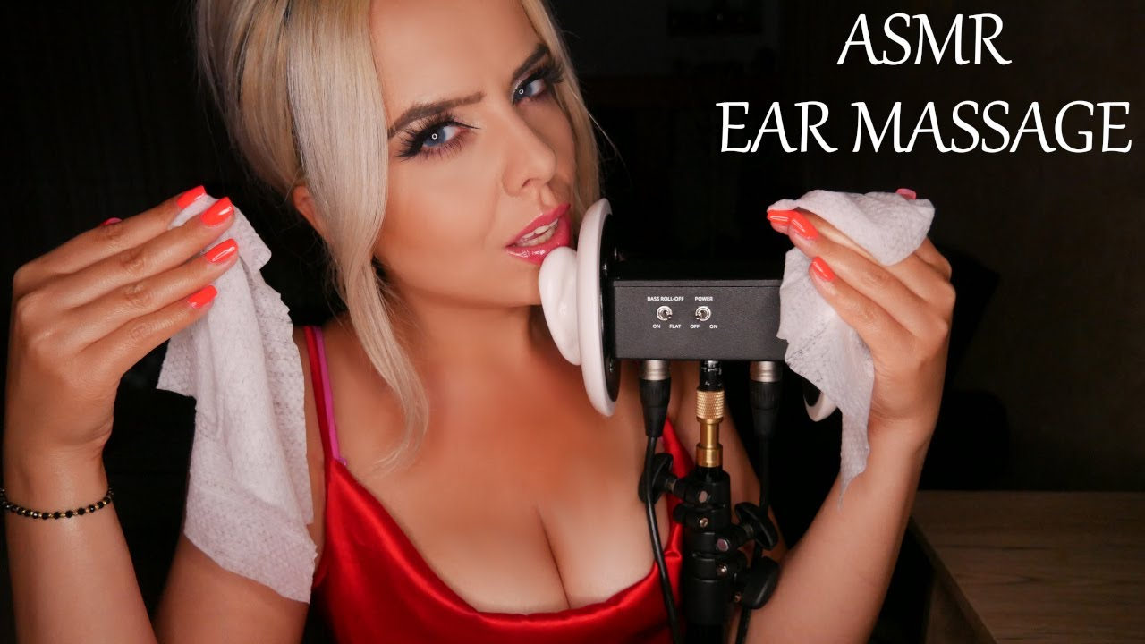 ASMR ✨Relaxing Ear Massage With Tissue & Deep Breathing✨ | 4k