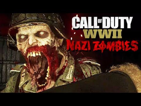 Call of Duty WW2 Nazi Zombies Mode Gameplay German #17 - Strahlenkanone