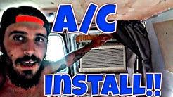 Van Life: Installing Window A/C Unit In Camper Van / RV - Air Conditioner Install Rear Window