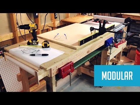 Modular Mobile Table Saw Station Youtube