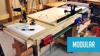 Modular Mobile Table Saw Station