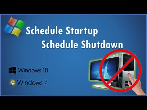How To Setup Schedule Power On And  Shutdown Any Windows System.