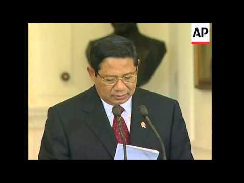 First speech of President Susilo Bambang Yudhoyono