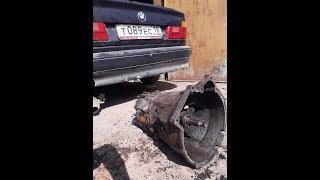 Как снять кпп (коробку) на BMW  Е34. Поменял загудевший выжимной  подшипник!