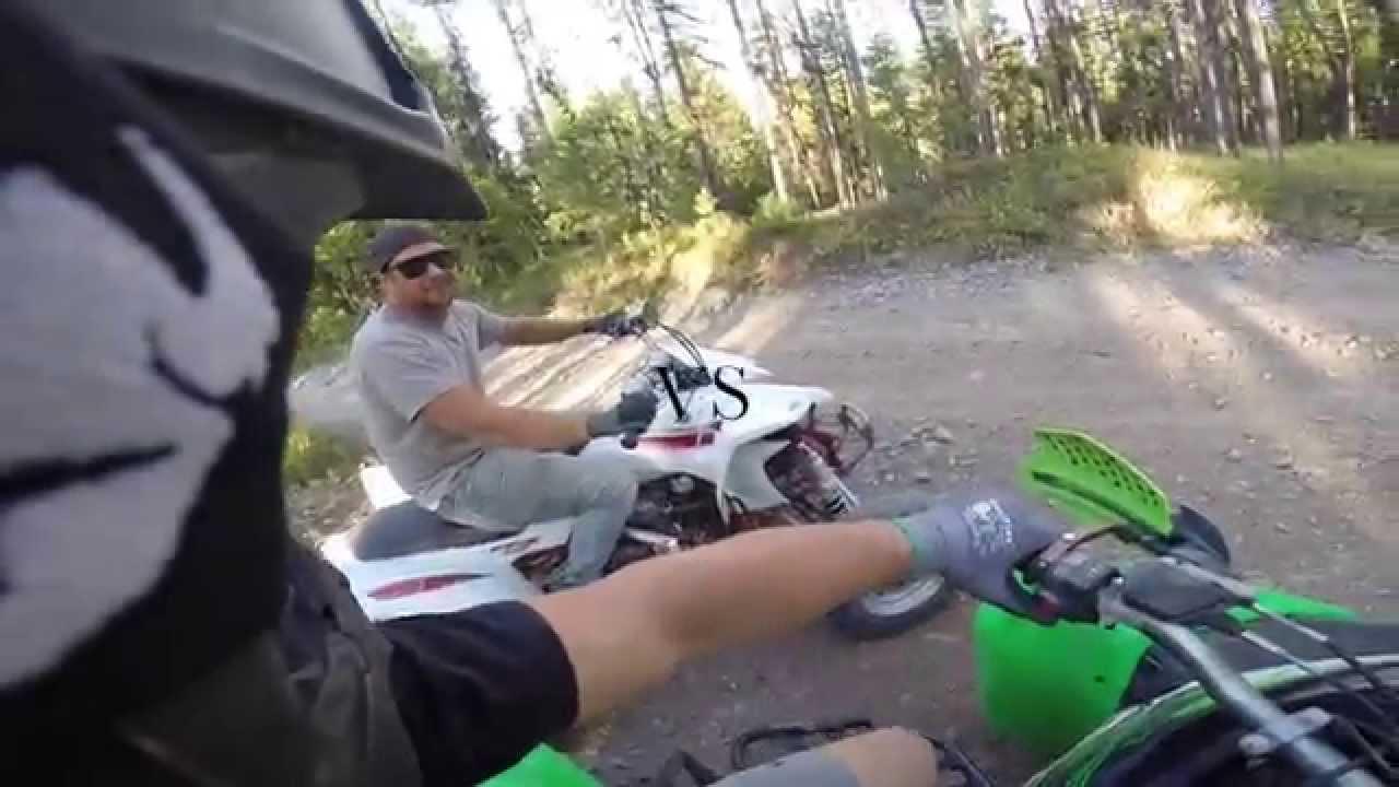 Oury Black ATV Grips For Thumb Throttle YFZ450 LTR450 LTZ400 RAPTOR TRX450R KTM