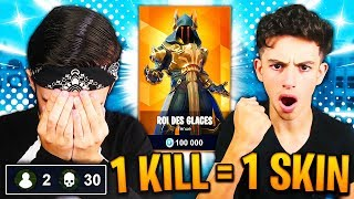 1 KILL - 1 SKIN SAISON 7 FREE FOR MY PETIT FREE ON FORTNITE! I'M CRYING... 😪