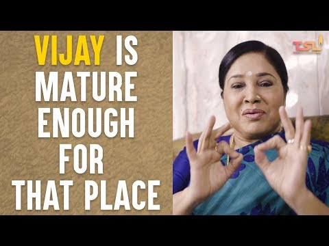 Vijay Is Mature Enough For That Place | Kovai Sarala Interview | Sri Thenandal Films | #Mersal
