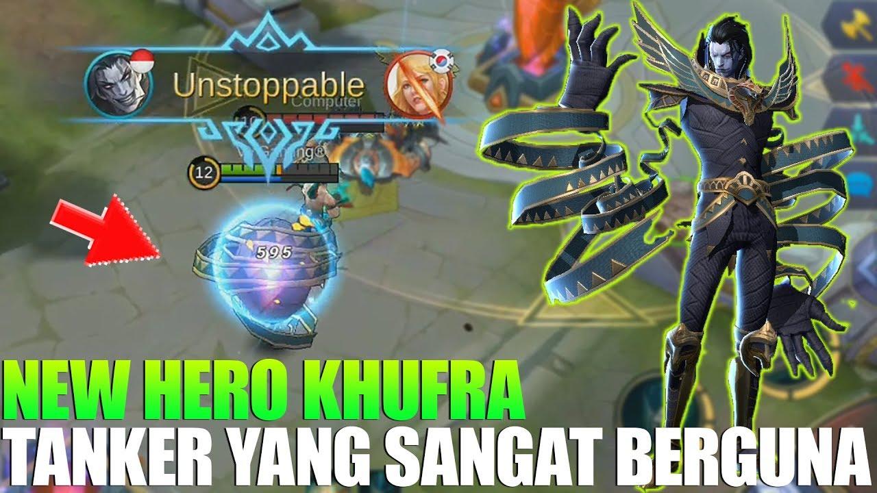 NEW HERO KHUFRA - TANK SUPER KEREN PUNYA SKILL YANG BERGUNA BANGET BUAT TEAM - MOBILE LEGENDS