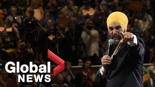 Canada Election: NDP Leader Jagmeet Singh holds UpRiSingh rally in Vancouver