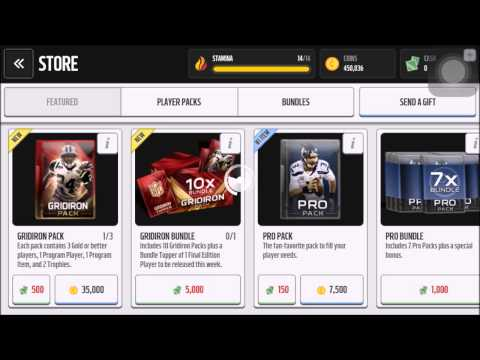 Madden Mobile! - GRIDIRON PACK OPENING!! - 2 NICE ELITE PULLS!!