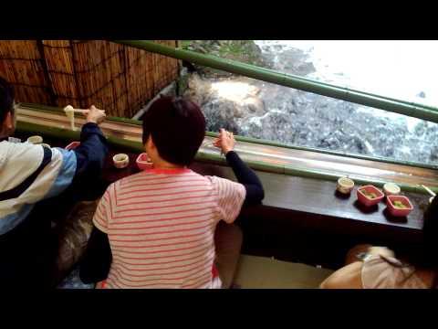 Nagashi Somen - Flowing Noodle At Hirobun Restaurant, Kibune
