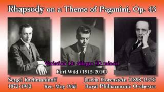 Rachmaninoff: Rhapsody on a Theme of Paganini, Wild & Horenstein (1965) ラフマニノフ パガニーニの主題による狂詩曲